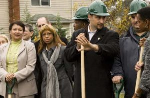Green Street groundbreaking  ceremony