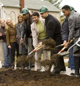 breaking ground