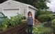 Garden and gardener in Edmonston, Maryland