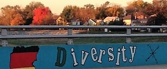 Diversity mural on Decatur Street Bridge