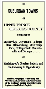 Prince George's Towns