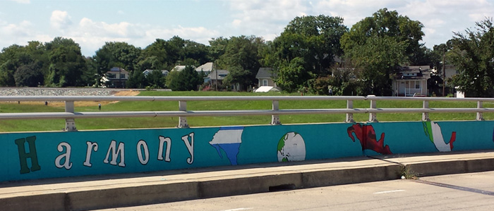 "Mural on Decatur Street Bridge: ""Harmony"""