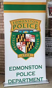 police department logo on banner