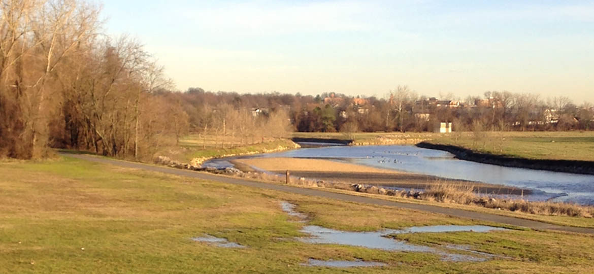 The Anacostia River in Edmonston, MD