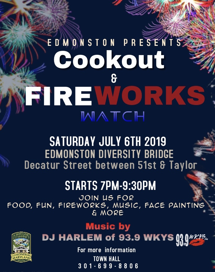Cookout and fireworks july 6