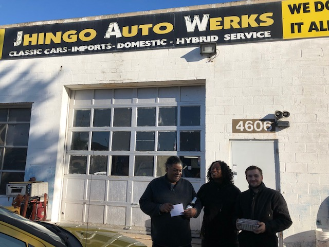 Mayor Gant at Jhingo Auto Werks