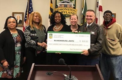 Mayor and Council present check
