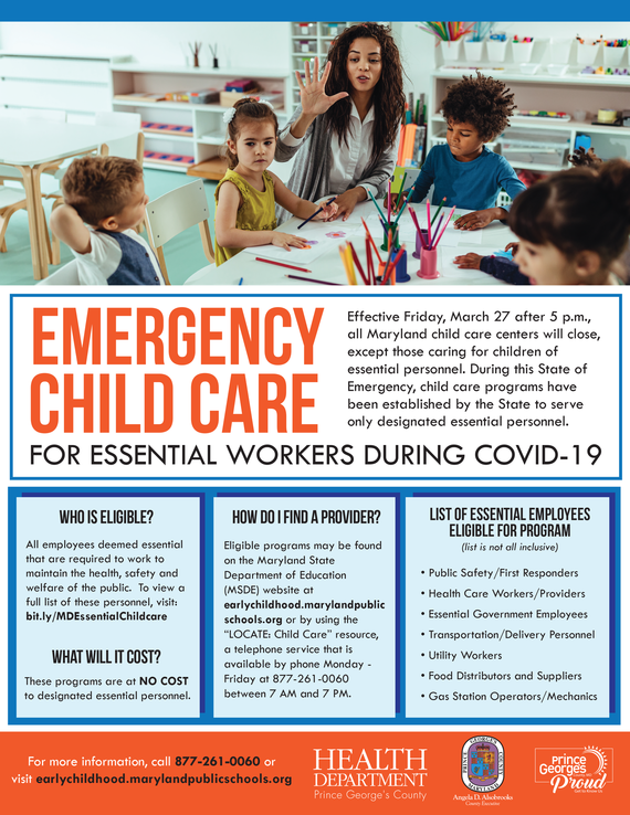 ChildCare for Essential Personnel Infographic