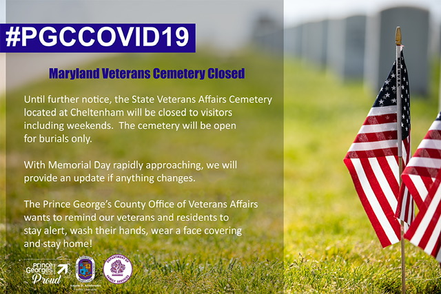 Veterans Cemetery Closed