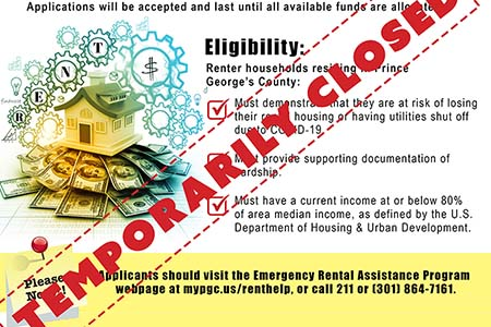Emergency Rental Assistance Program Temporarily Closed