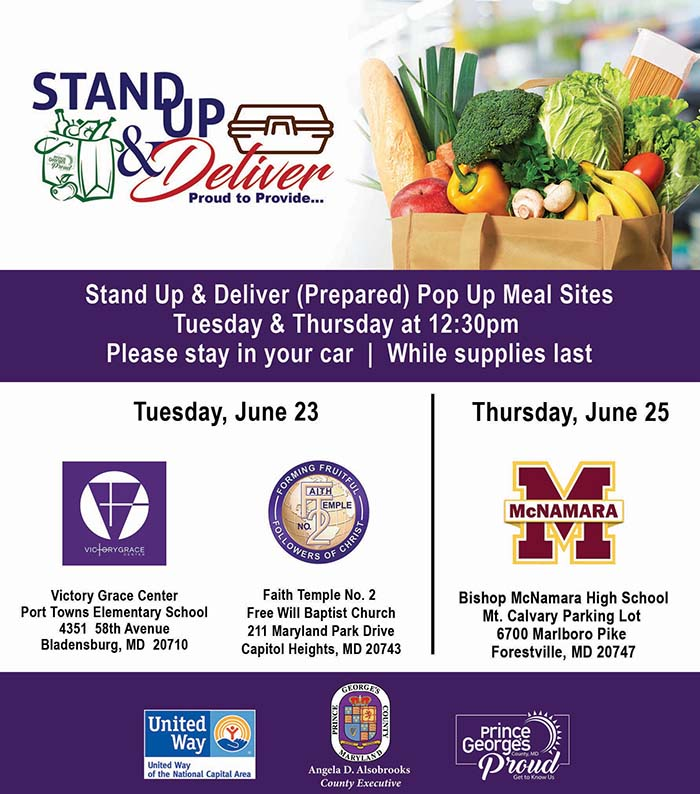 Stand Up & Deliver Meal Sites