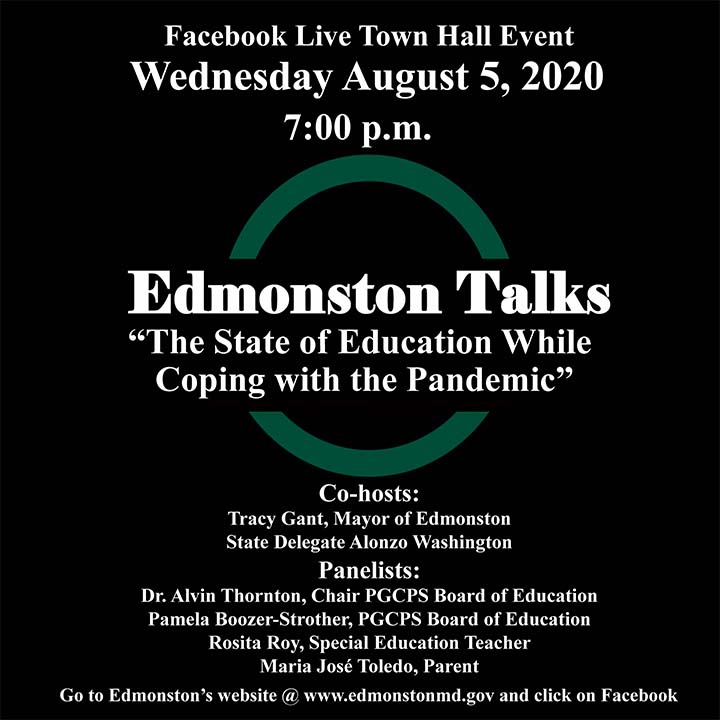 Edmonston Talks: The State of Education While Coping with the Pandemic