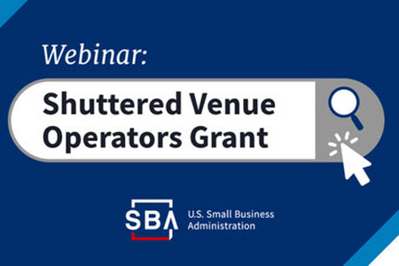 Shuttered Venue Operators Grant Webinar on January 14th at 3pm