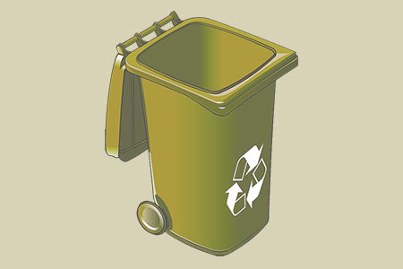 No Plastic Bags in Recycling Containers