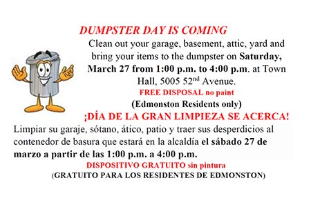 Dumpster Day March 27